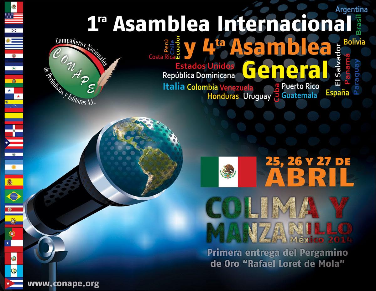 PRIMERA ASAMBLEA INTERNACIONAL DE CONAPE Y CUARTA ASAMBLEA GENERAL