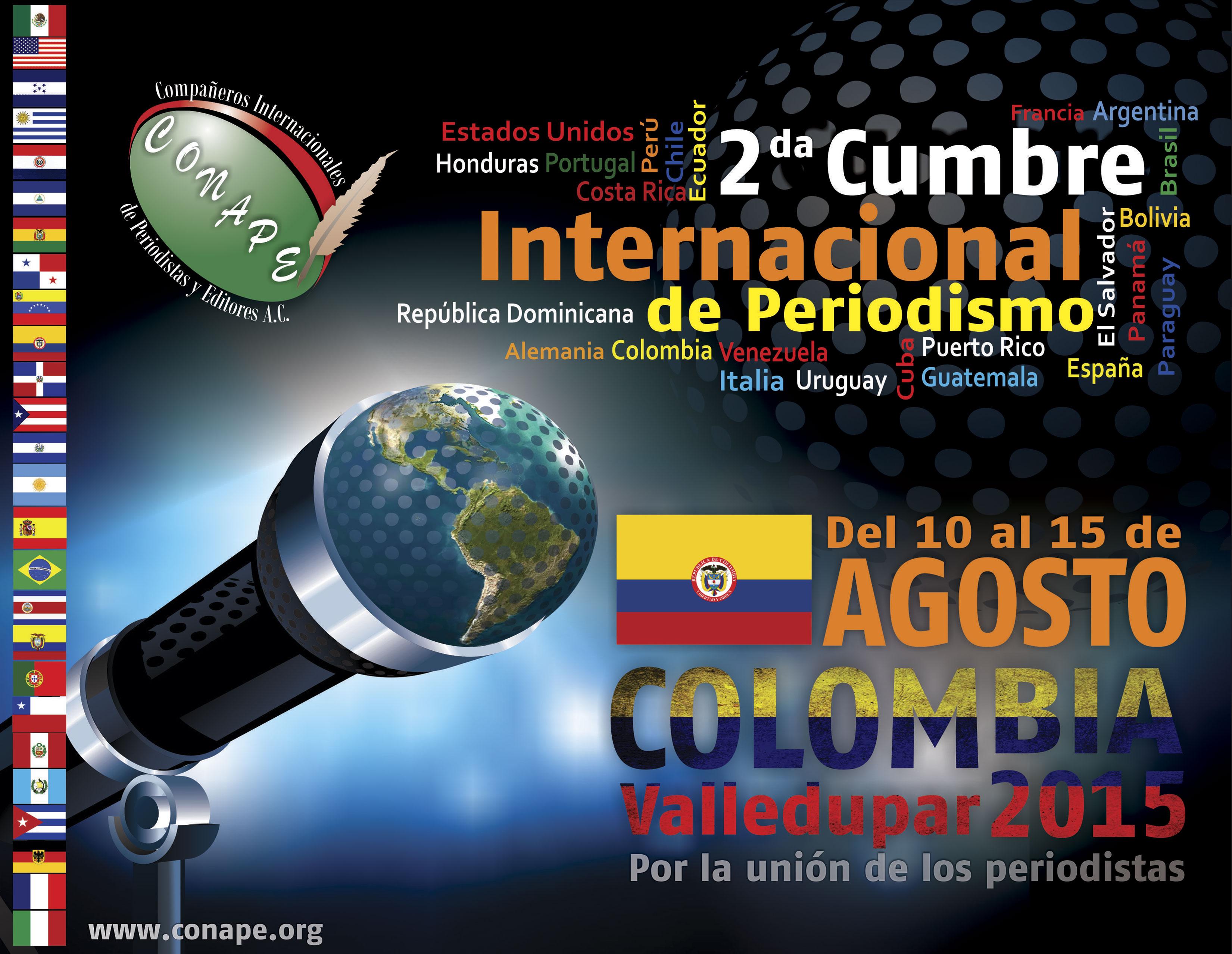 SEGUNDA CUMBRE INTERNACIONAL DE PERIODISMO - COLOMBIA 2015
